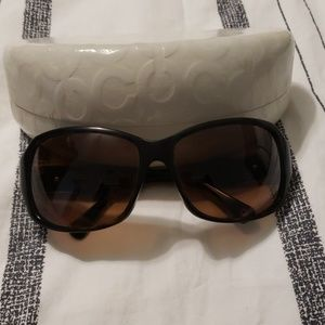 Coach sunglasses: tortoise brown and gold decal